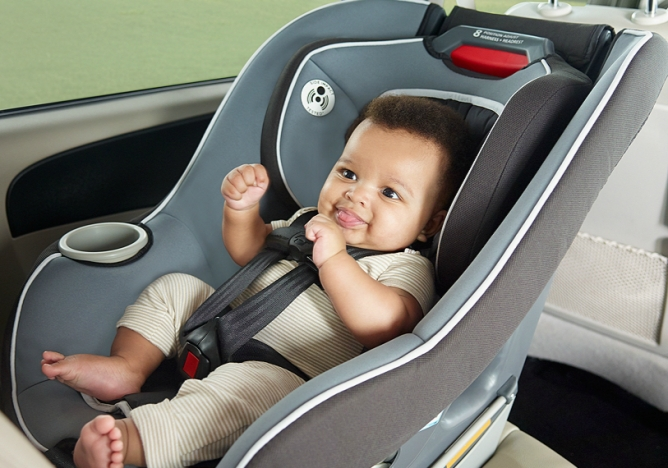 Graco Contender 65 - Installed Rear Facing (supports up to 40lb child)
