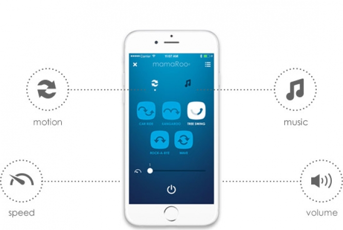 Control settings remotely with the mamaRoo App