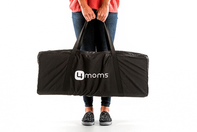 The 4moms Breeze Playard comes with a travel bag