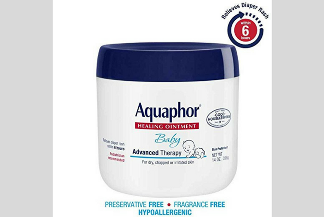 Aquaphor Baby Healing Ointment Review jar with labels