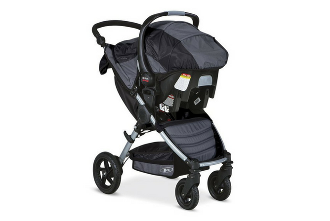 BOB Motion Travel System review stroller and carrier front view