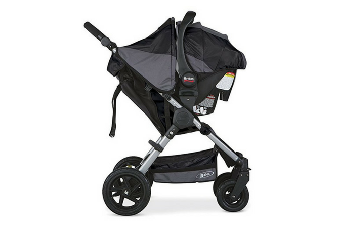 BOB Motion Travel System review stroller and carrier side view