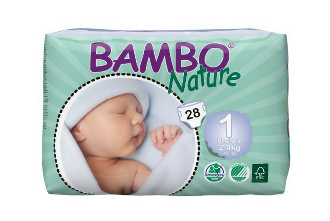 Bamboo Nature Diapers review Pack Size 1