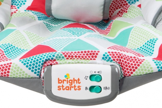 Bright Starts Toucan Tango Bouncer vibration and music features