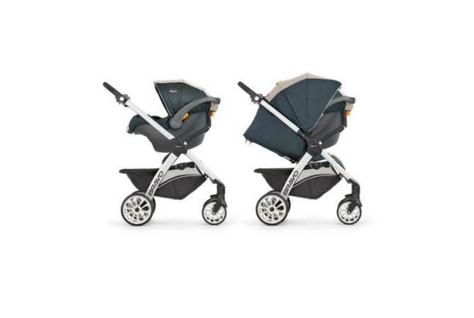Chicco Bravo Trio Travel System review with and without canopy