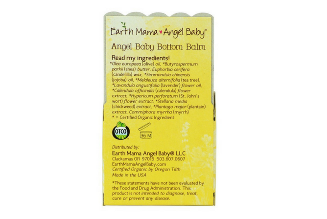 Earth Mama Baby Bottom Balm review back