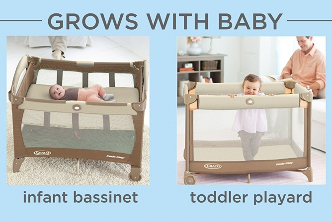 Graco Pack N' Play On The Go Playard grows with your baby