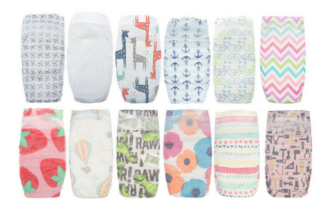 Honest Company Diapers review Different Prints