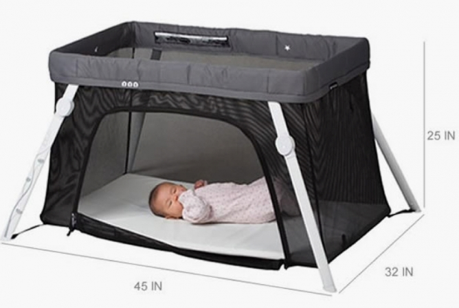 Lotus travel crib dimensions