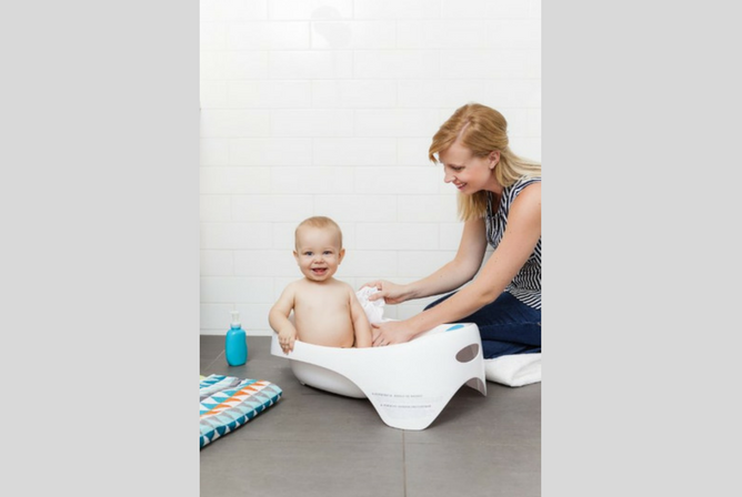 Boon Soak Tub review toddler and mom