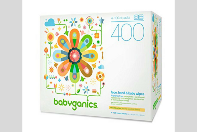 Babyganics Baby Wipes review Box