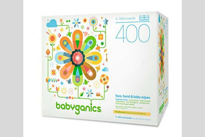 Babyganics Baby Wipes review Box