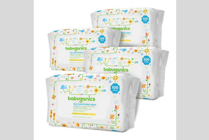 Babyganics Baby Wipes review Packs