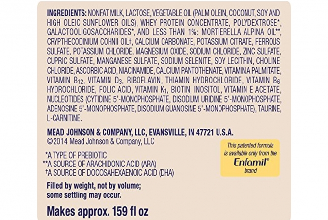 Enfamil Infant Formula Ingredients