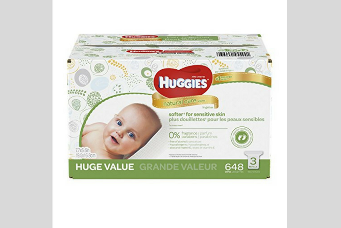Huggies Natural Care Wipes review Box