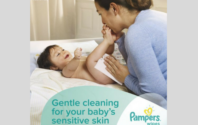 Pampers Sensitive Wipes review Mom & Baby