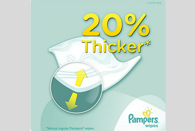 Pampers Sensitive Wipes review Thickness