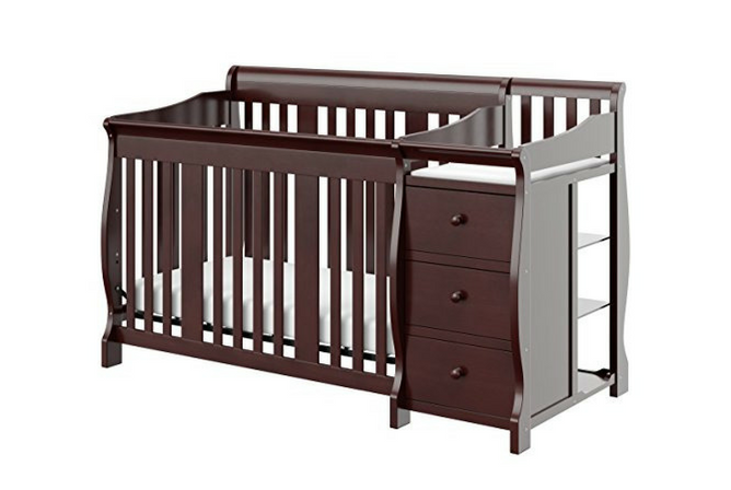 Best Baby Cribs Stork Craft Portofino 4-in-1 Fixed Side Convertible Crib and Changer