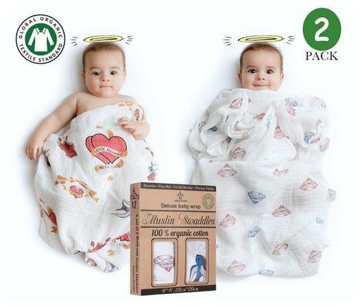Best Baby Swaddle Blankets BaByju Premium 100% Organic Cotton Muslin Blankets