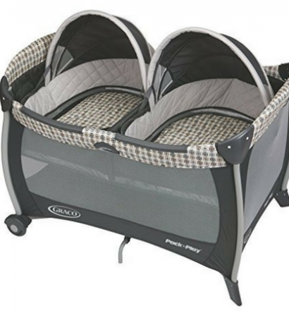Best Cribs for Twins Graco Pack 'n Play Playard with Twins Bassinet