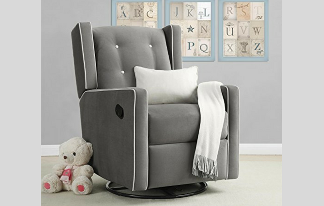 Best Baby Gliders for the Nursery Baby Relax Mikayla Swivel Gliding Recliner