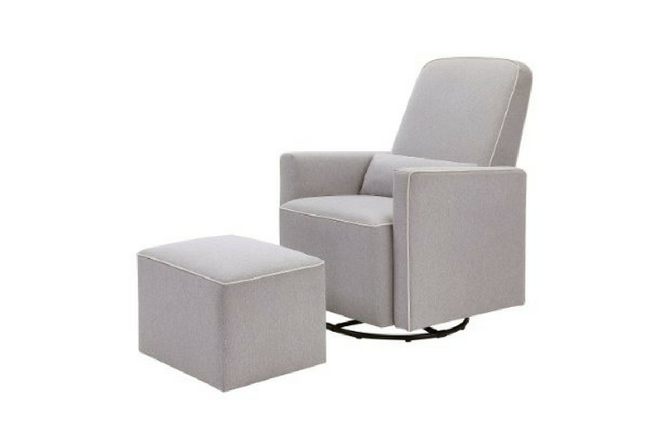 Best Baby Gliders For The Nursery Davinci Olive Upholstered Swivel Glider With Bonus Ottoman