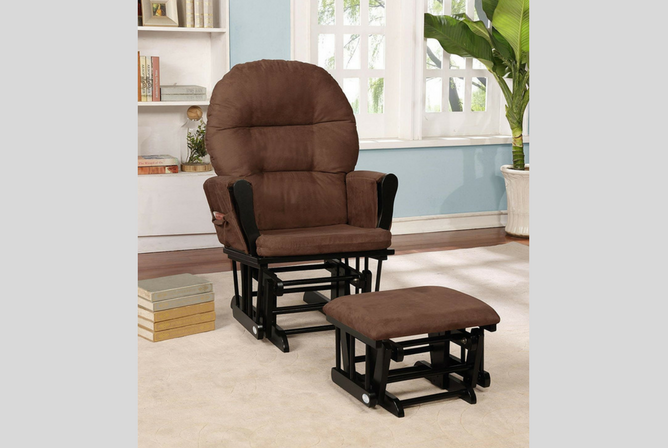 Best Baby Gliders for the Nursery Naomi Home Brisbane Glider & Ottoman Set