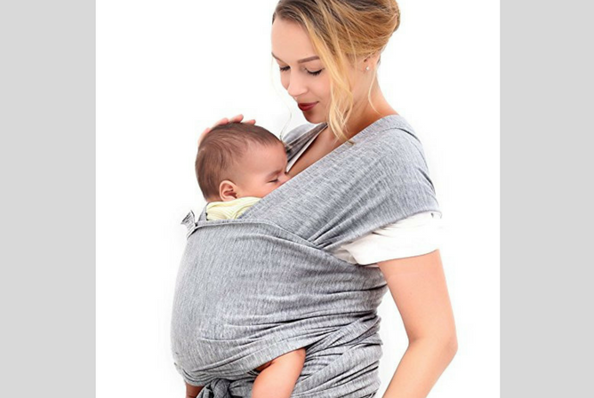 Best Baby Wraps Innoo Tech Gray Soft Comfortable Natural Cotton Baby Sling