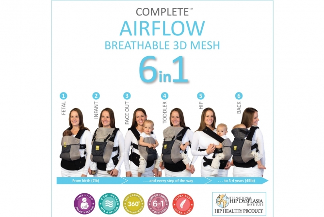 Lillebaby Complete Airflow Carrier Different Carry Positions