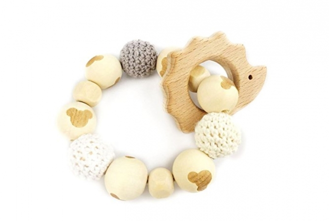 Baby Love Hedgehog Wooden Teether