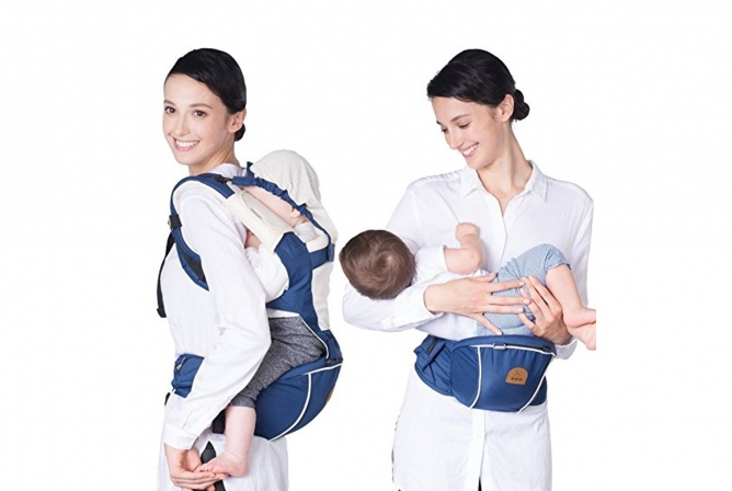 Bebamour New Style Carrier Back Carry and Hip Seat Carry