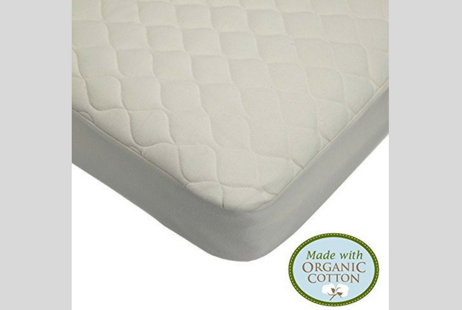 Best Baby Mattress Pad American Baby Company Waterproof Quilted Crib Size Fitted Mattress Cover made with Organic Cotton
