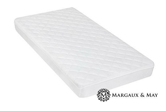 Best Baby Mattress Pad Margaux & May Ultra Soft Waterproof Crib Mattress Protector Pad with Bamboo Rayon Fiber