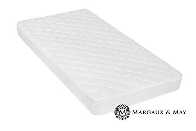 Best Baby Mattress Pad Margaux & May Ultra Soft Waterproof Crib Mattress Protector Pad with Bamboo Rayon Fiber