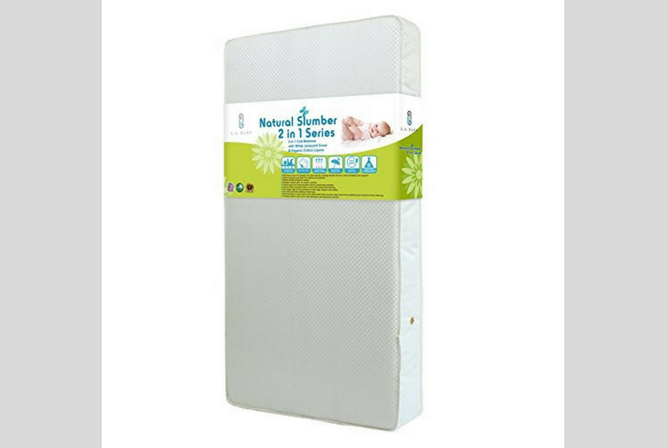 Best Organic Baby Mattresses LA Baby 2 in 1 Crib Mattress