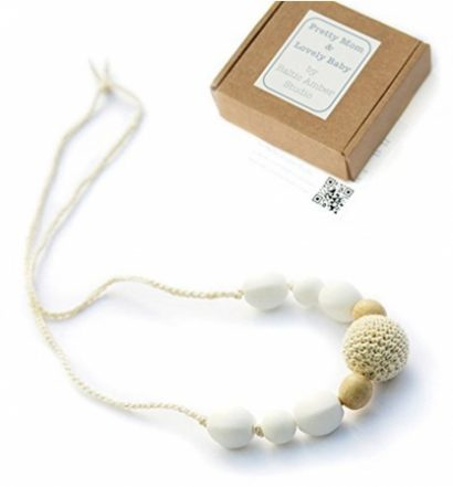 Snowball Designer Teething Necklace