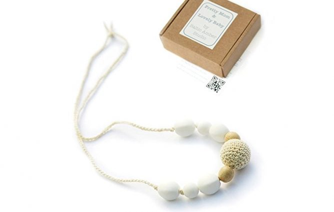 Snowball Designer Teething Necklace