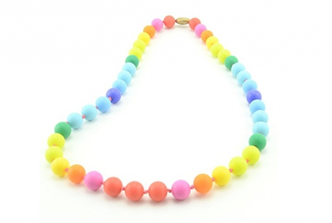 Teether Rainbow Silicone Teething Necklace