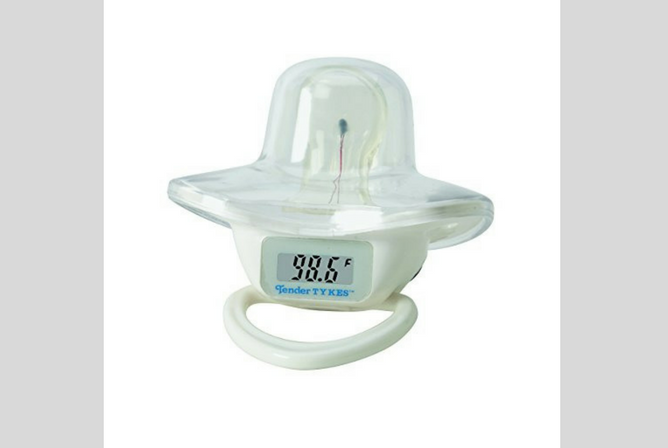 Best Pacifiers for Toddlers TenderTykes Waterproof Digital Pacifier Thermometer