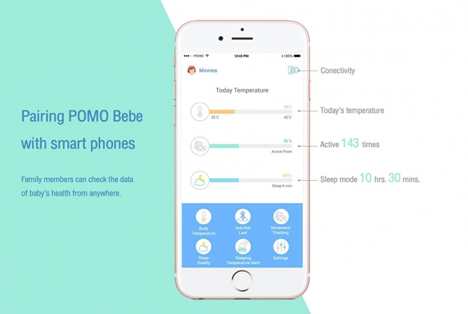 POMO Bebe Review Pairs with Smartphone app