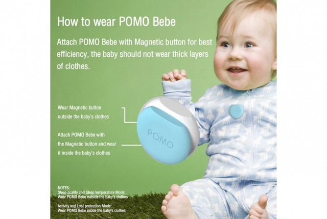 POMO Bebe Review Wearable on Clothes