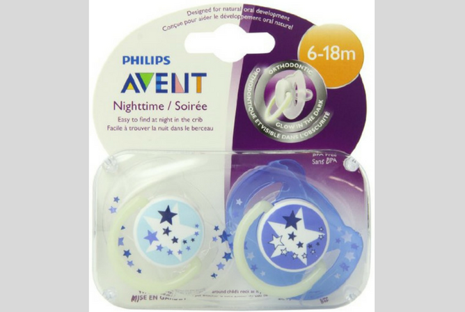best pacifiers for sleeping Philips AVENT Night Time Pacifier
