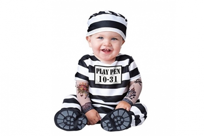 Best Baby Halloween Costumes InCharacter Time Out Convict Costume