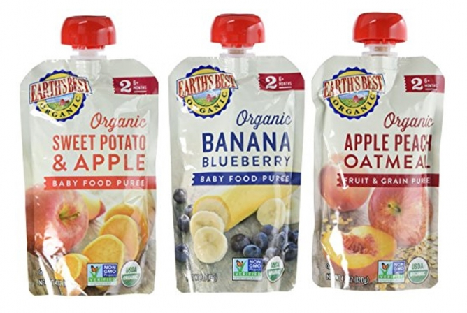 Earth's Best Baby Food Review Baby Food Pouches Different Flavors