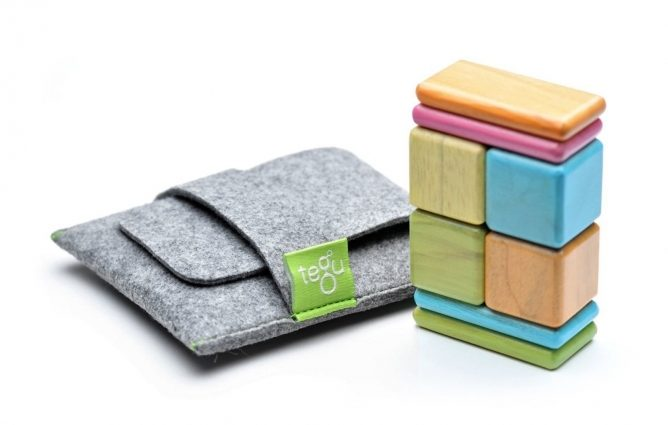 Best Toddler Toys Tegu Pocket Pouch Magnetic Wooden Block Set