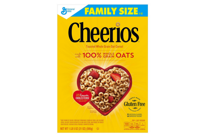 Cheerios Gluten Free Breakfast Cereal, 21 oz, Family Size Cereal Box