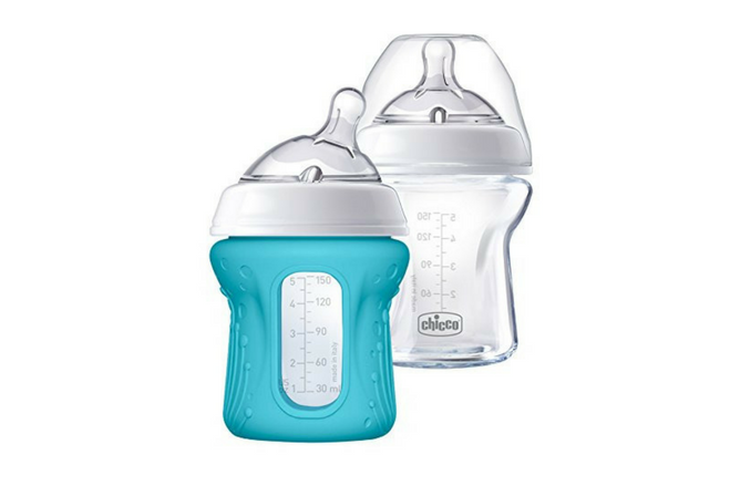 Chicco NaturalFit Glass Baby Bottle 2 Pack