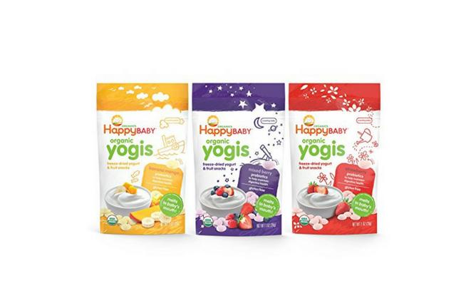 Happy Baby Organic Yogis Freeze-Dried Yogurt & Fruit Snacks, 3 Flavor Variety Pack, 1 Ounce